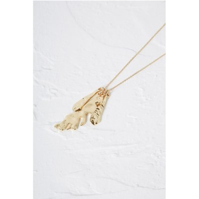 Squiggle Necklace - gold