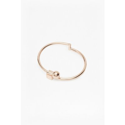 Cube And Sphere Sliding Bangle - gold