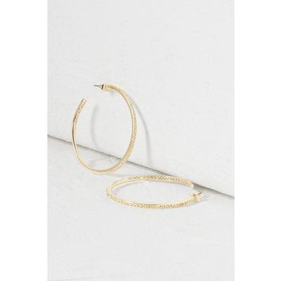Crystal Hooped Earrings - gold
