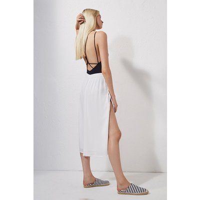 Bali Beach Wide Leg Culottes - summer white