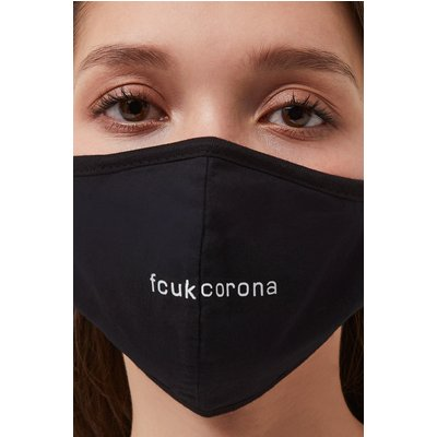 Fcuk Corona Face Mask - black/white