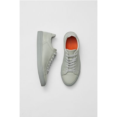 Lars Logo Trainers - light grey leather