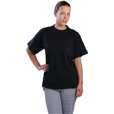 Nisbets Essentials T-Shirts Black Extra Large