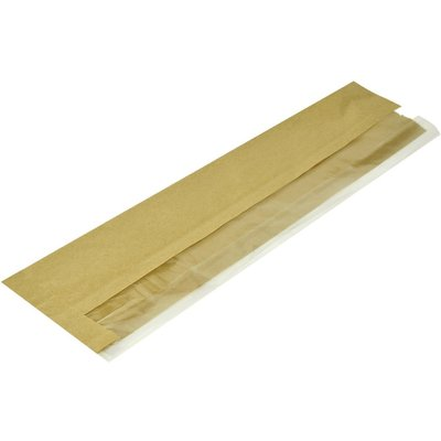 Vegware Compostable Kraft Baguette Bags With PLA Window  Pack of 1000  Pack of 1000 - 5060271920709