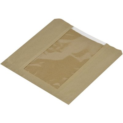 Vegware Compostable Kraft Sandwich Bags With PLA Window Small  Pack of 1000  Pack of 1000 - 5060271922697
