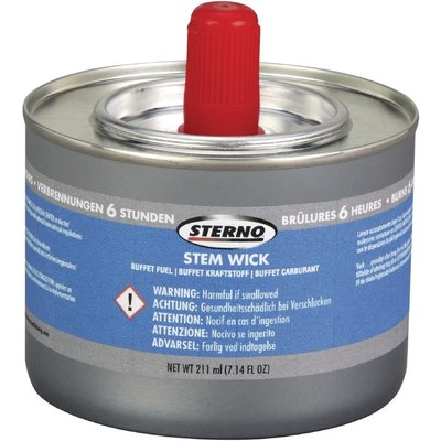 Sterno Stem Wick Liquid Chafing Fuel With Wick 6 Hour x 36 Pack of 36 - 5050984486845