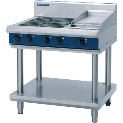 Blue Seal Evolution Cooktop 4 Element  Griddle Electric on Stand 900mm E516C LS - 5053661169888