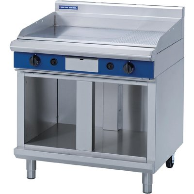 Blue Seal Evolution Chrome 1 3 Ribbed Griddle with Cabinet Base Nat Gas 900mm GP516 CB N - 5053661046950