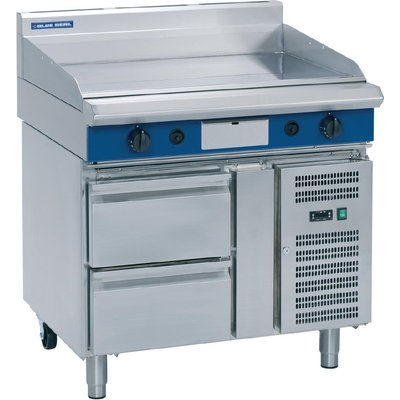 Blue Seal Evolution Griddle Refrigerated Base Nat Gas 900mm GP516 RB N - 5053661169772