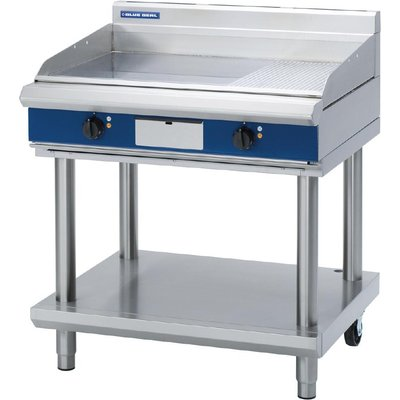 Blue Seal Evolution 1 3 Ribbed Griddle with Leg Stand Electric 900mm EP516 LS - 5053661047957