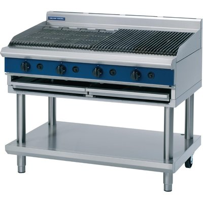 Blue Seal Evolution Chargrill with Leg Stand Nat Gas 1200mm G598 LS N - 5053661047889