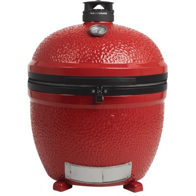 852264002128 | Kamado Classic Joe Stand Alone Ceramic Grill Barbecue Red KJ23NRSH