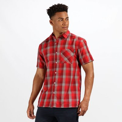 Men's Kalambo IV Short Sleeve Checked Shirt - Classic Red