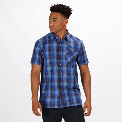 Men's Kalambo IV Short Sleeve Checked Shirt - Surfspray