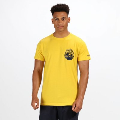 Men's Cline III Graphic Print T-Shirt - Yellow Sulphur