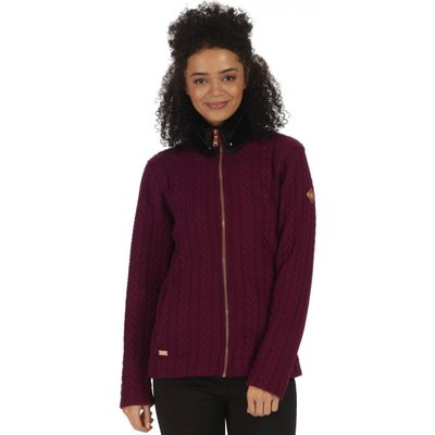 Tryna Quilted Jersey Fleece - Fig