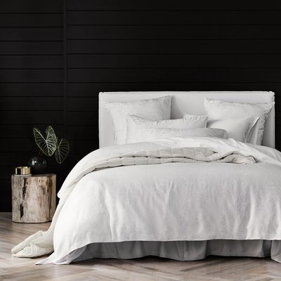Sheridan Sanderling TENCEL Lyocell quilt cover set - white / super king