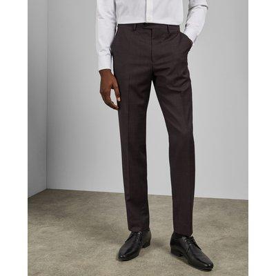 Debonair Subtle Check Wool Trousers