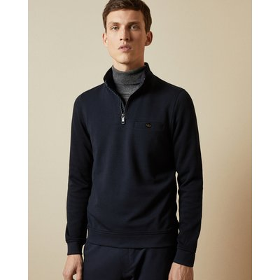 TED BAKER Pullover Mit Halbem Zip-verschluss Und Stehkragen