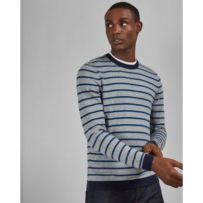 TED BAKER Gestrickter Pullover Mit Rundhalsausschnitt Und Streifen