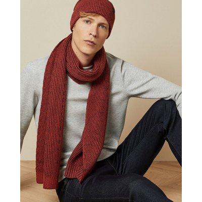 TED BAKER Strukturierter Schal Aus Cardigan-strick