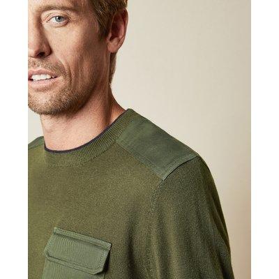 TED BAKER Tall Pullover Mit Rundhalsausschnitt Und Aufgesetzter Tasche