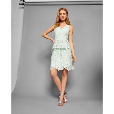 Lace Peplum Detail Dress