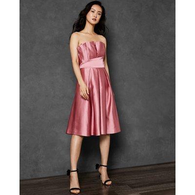 Pleated Bodice Full Skirt Dress