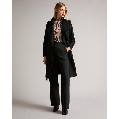 Midi Wool Wrap Coat