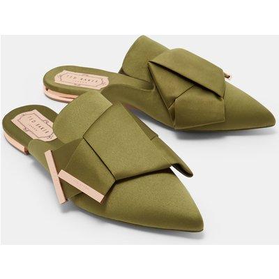 TED BAKER Fersenfreie Satin-loafer Mit Zierschleife