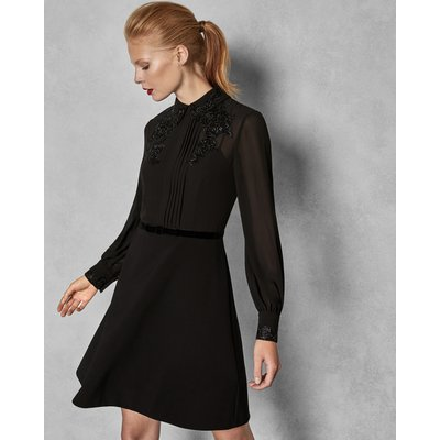 Embellished Dress With Collar
