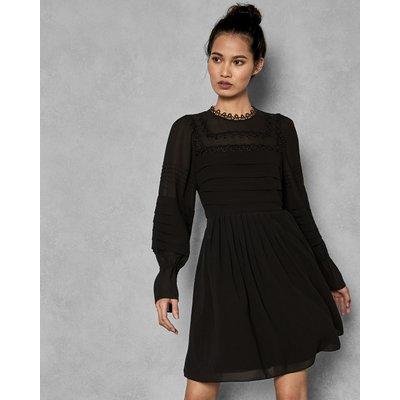 Embroidered Volume Sleeve Dress