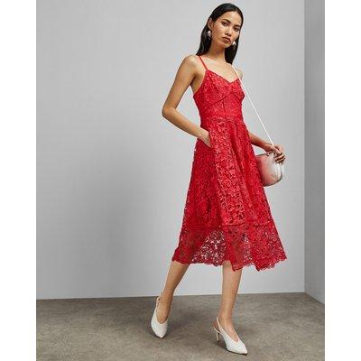 Mixed Lace Midi Dress