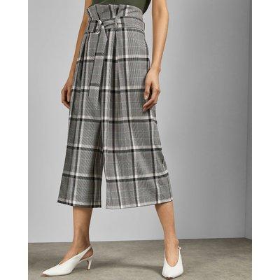 TED BAKER Karierte Culotte Mit Paperbag-taille