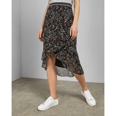 Hazel Frill Detail Midi Skirt