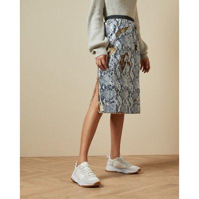 Snake Skin Sequin Skirt