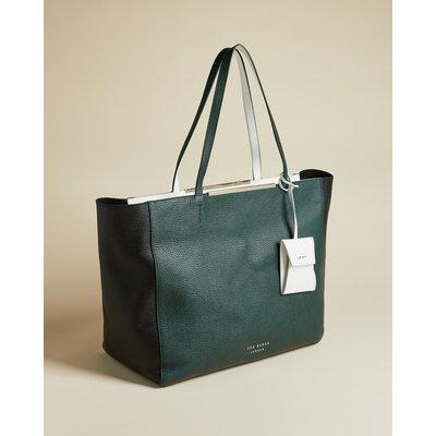 Bar Detail Oversized Shopper Bag