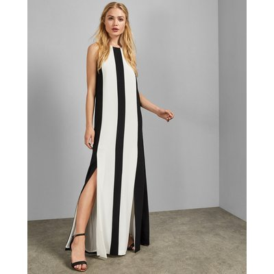 Racer Neckline Maxi Dress