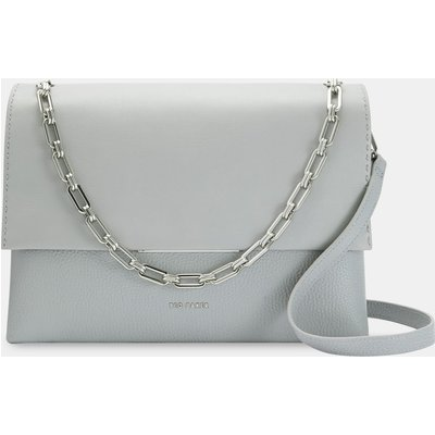 Bar Detail Leather Shoulder Bag