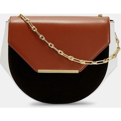 Moon Leather Shoulder Bag
