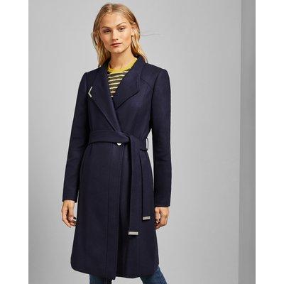 Long Belted Wrap Coat