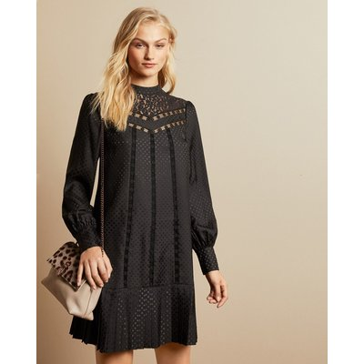 Lace Detail Long Sleeved Dress