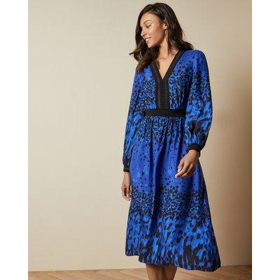 Topaz Long Sleeved Midi Dress
