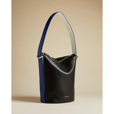 Leather Shoulder Bucket Bag
