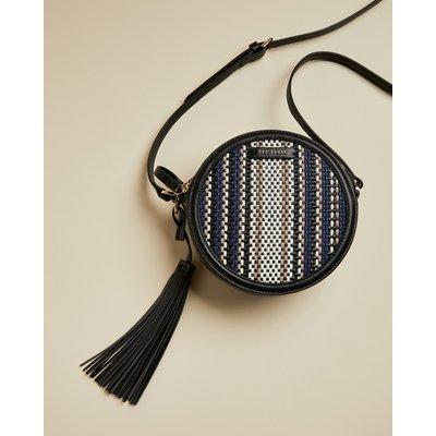 Circular Tassel Detail Shoulder Bag