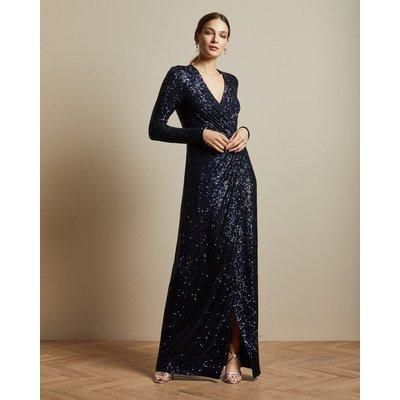 Sequin Long Sleeved  Maxi Dress