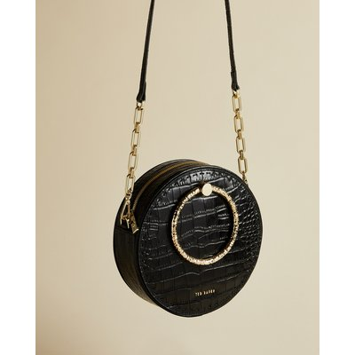 Circle Leather Exotic Cross Body Bag