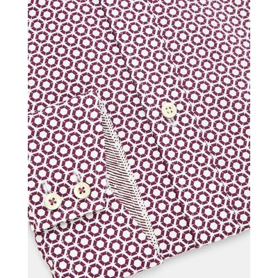 TED BAKER Baumwollhemd Mit Hexagon-print