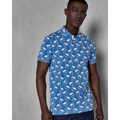 TED BAKER Baumwoll-polohemd Mit Flamingo-print