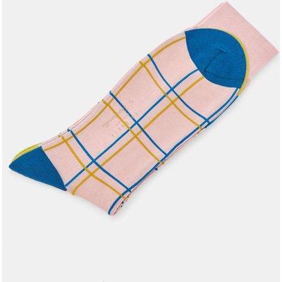 Fine Check Cotton Socks
